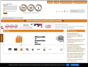 Main page screenshot of meiweb.it