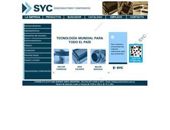 sycelectronica.com.ar screenshot