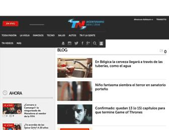 Main page screenshot of blogs.tn.com.ar