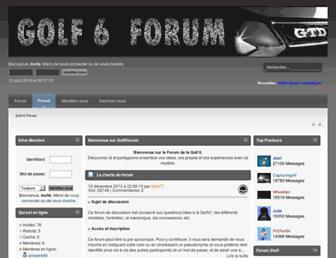 golf6forum.fr screenshot