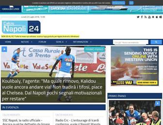 Main page screenshot of calcionapoli24.it