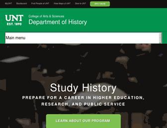 history.unt.edu screenshot