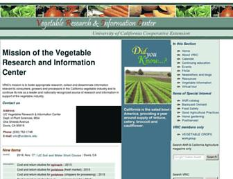 Main page screenshot of vric.ucdavis.edu