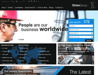 Thumbshot of Orionjobs.com