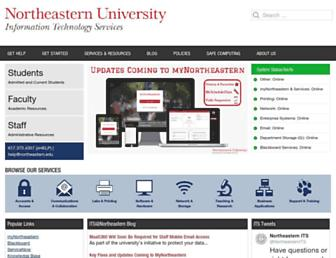 its.northeastern.edu screenshot