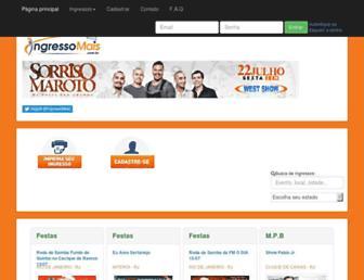 Screenshot for ingressomais.com.br