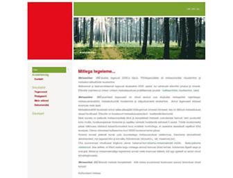 Main page screenshot of metsasober.ee