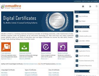 e-mudhra.com screenshot
