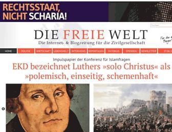 Main page screenshot of freiewelt.net