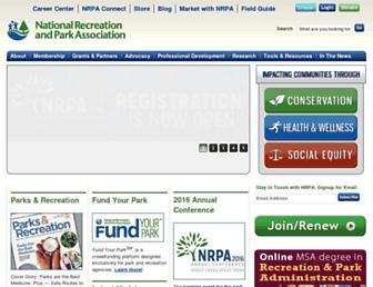 nrpa.org screenshot