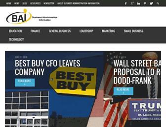 businessadministrationinformation.com screenshot