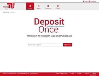depositonce.tu-berlin.de screenshot