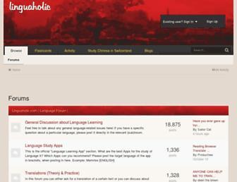 linguaholic.com screenshot
