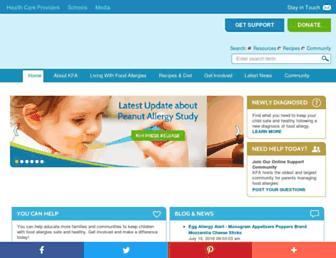Thumbshot of Kidswithfoodallergies.org