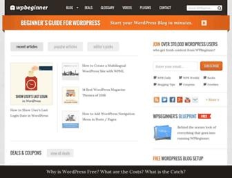 Thumbshot of Wpbeginner.com