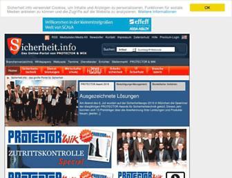 Main page screenshot of sicherheit.info