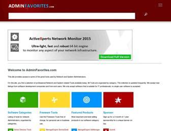 adminfavorites.com screenshot
