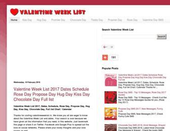 Thumbshot of Valentineweeklist.in