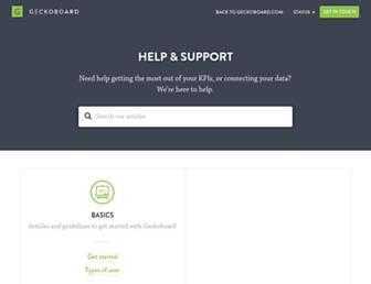support.geckoboard.com screenshot