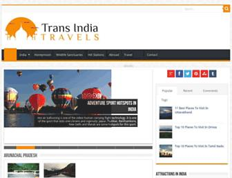transindiatravels.com screenshot