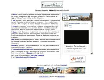 Main page screenshot of rete.comuni-italiani.it