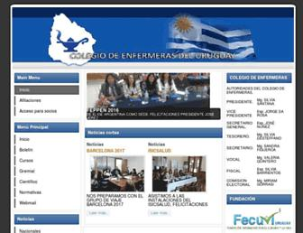 colegiodeenfermeras.org.uy screenshot