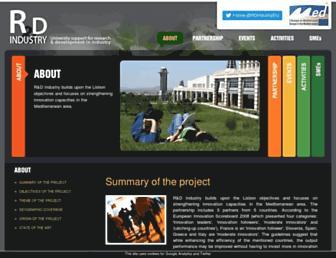 Main page screenshot of rdindustry.eu