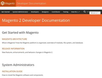 devdocs.magento.com screenshot