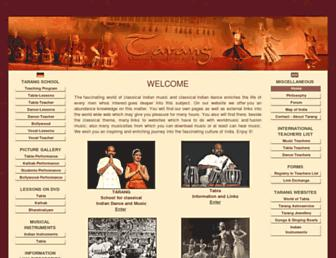 tarang-classical-indian-music.com screenshot