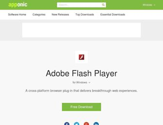 adobe-flash-player.apponic.com screenshot
