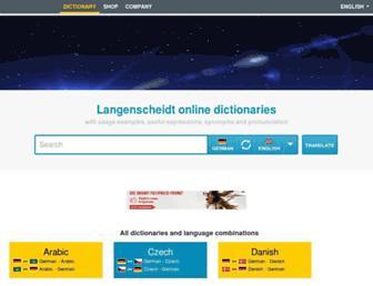 en.langenscheidt.com screenshot
