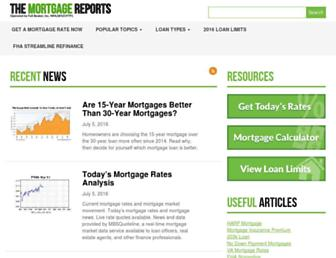 themortgagereports.com screenshot