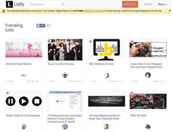 list.ly screenshot