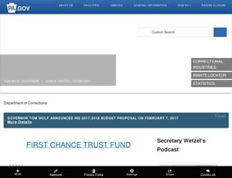 cor.pa.gov screenshot