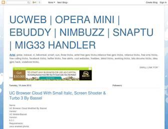 ucweb-handler.blogspot.com screenshot