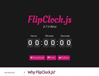 flipclockjs.com screenshot