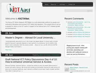 kictanet.or.ke screenshot