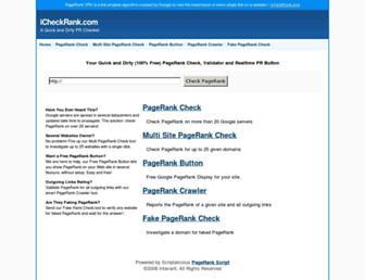 Thumbshot of Icheckrank.com