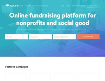 causevox.com screenshot