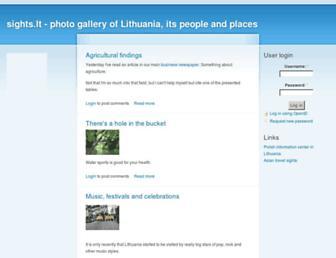 Main page screenshot of sights.lt