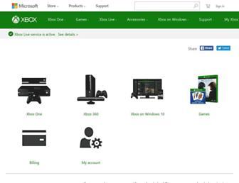 support.xbox.com screenshot