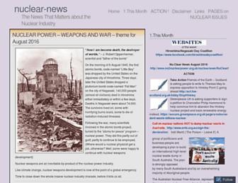 Main page screenshot of nuclear-news.net