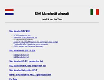 Main page screenshot of siai-marchetti.nl