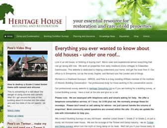 Main page screenshot of heritage-house.org