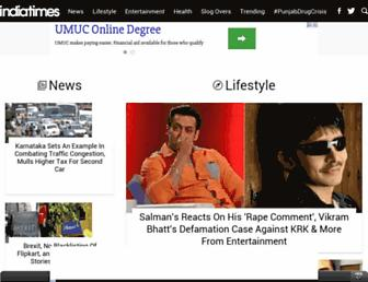 Fullscreen thumbnail of indiatimes.com