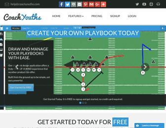 footballplaybookdesigner.com screenshot