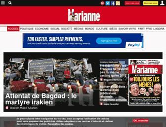 Main page screenshot of marianne.net