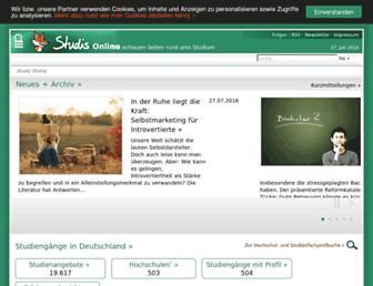 Main page screenshot of studis-online.de
