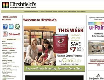 hirshfields.com screenshot