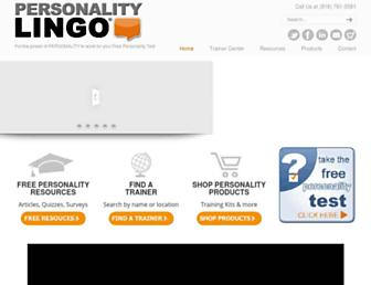 personalitylingo.com screenshot